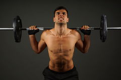 Athlete Young Man Exercises Royalty Free Stock Images