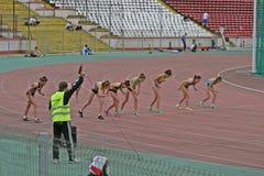 Athleten Stockbild