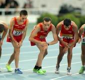 Athleten auf dem Anfang von Ereignis 10000 lizenzfreies stockfoto