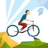 Athleten-Cycling Track Sport-Wettbewerb Lizenzfreies Stockfoto