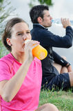 Athleten-Hydratation Stockbild