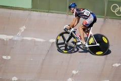 Athletenmitglied des Teamrennens des Kanadiers Stockbild