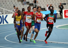 Athletes in the 800 meters on the 2012 IAAF World Stock Image