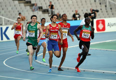 Athletes in the 800 meters on the 2012 IAAF World Stock Photo