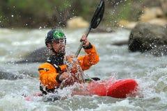Athletes compete during 2016 Buzau X racee kayak endurance Stock Images