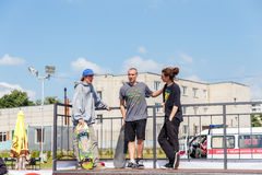Athletes compete at Skateboard Challenge Royalty Free Stock Photo
