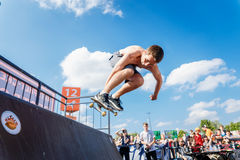 Athletes compete at Skateboard Challenge Stock Photos