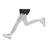 Athletes feet running isolated. Vector illustration design Royalty Free Stock Photo
