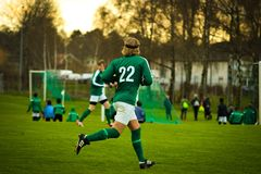 Athletes, Field, Football Royalty Free Stock Images