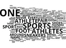 Athletes Foot Sneakers It Is Word Cloud Concept Stock Photos