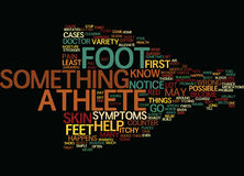 Athletes Foot Word Cloud Concept. Athletes Foot Text Background Word Cloud Concept Royalty Free Stock Photo