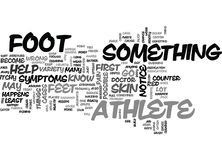Athletes Foot Word Cloud. ATHLETES FOOT TEXT WORD CLOUD CONCEPT Royalty Free Stock Photo