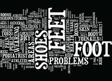 Athletes At Greater Risk For Foot Problems Word Cloud Concept Royalty Free Stock Images
