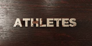 Athletes - grungy wooden headline on Maple  - 3D rendered royalty free stock image Stock Photo