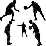 Athletes men. Are playing basketball Royalty Free Stock Photography