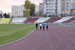 Athletes. From national really on a daily training in Bucharest, Romania Royalty Free Stock Image
