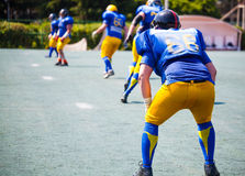 Athletes from one team lined Royalty Free Stock Photography