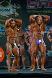 Athletes participate in Bodybuilding Champions Cup Stock Image