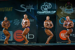 Athletes participate in Bodybuilding Champions Cup Stock Images