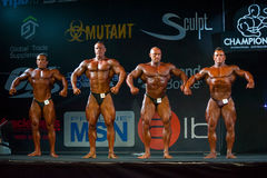 Athletes participate in Bodybuilding Champions Cup Stock Photography