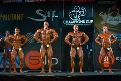 Athletes participate in Bodybuilding Champions Cup Royalty Free Stock Photo