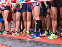 Athletes ready to run Royalty Free Stock Image