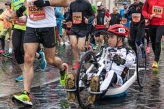 Athletes at the Rome Marathon. Stock Photography