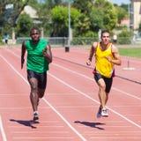 Athletes Running Stock Photography