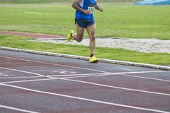 Athletes running, sports. Athletes running on the athletics track Stock Photos