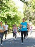 Athletes running in marathon Royalty Free Stock Photography