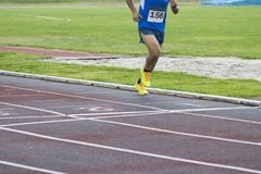 Athletes running, sports. Athletes running on the athletics track Stock Photography