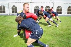 Athletes from Scotland train Royalty Free Stock Image