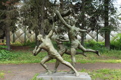 Athletes sculpture Royalty Free Stock Images