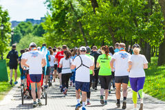 Athletes at the start of a Charity run Wings of the Angels.Belar Stock Photography