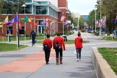 Athletes walking at the Olympic Training Center Colorado. Springs, Colorado stock photography