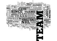 Athletes Who Buy Into The Nhl Franchise Word Cloud Stock Images