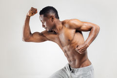Athletic african american man shirtless Royalty Free Stock Photography