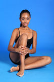 Athletic african sportswoman with fit healthy body Royalty Free Stock Photo