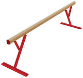Athletic balance beam Stock Image