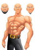 Athletic bald guy character design Royalty Free Stock Photo