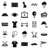 Athletic behavior icons set, simple style Royalty Free Stock Photography