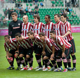 Athletic Bilbao group. Slask Wroclaw -Athletic Bilbao, July 21  Athletic players group photo before start of frendly match between Athletic and Slask Wroclaw Royalty Free Stock Photos