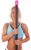 Athletic blonde during training Royalty Free Stock Photography