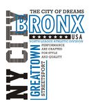Athletic NY City Bronx. Athletic Bronx T-shirt graphic Typography Design, vector image Stock Photo