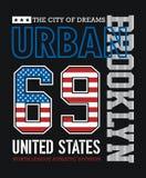 Athletic Brooklyn Typography Design. Athletic Brooklyn T-shirt graphic Typography Design, vector image Stock Illustration