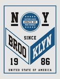 Athletic Brooklyn, Vector image. Athletic Brooklyn, T shirt Graphic, Vector image vector illustration