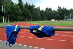 Athletic clothes. Drying after the game Royalty Free Stock Photo