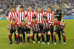 Athletic Club Bilbao Team. Athletic Bilbao team posing in posing before a Spanish League match between RCD Espanyol vs Bilbao at the Estadi Cornella on September Stock Photography