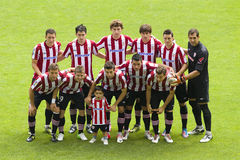 Athletic Club players Stock Images