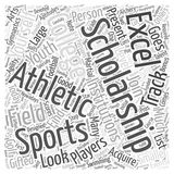 Athletic college scholarship word cloud concept vector background Stock Photo